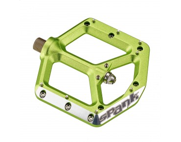 Spank Spike pedals emerald green