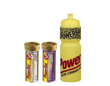 PowerBar 5 Electrolytes effervescent tablet set offer including drinks bottle (750 ml) gelb
