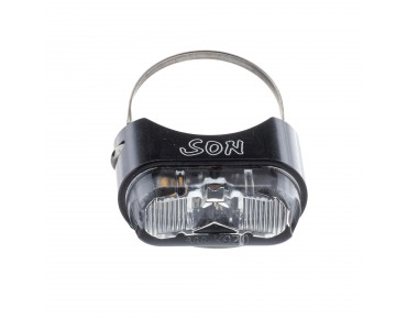 SON seat post back light black/clear lens