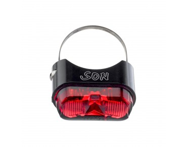 SON seat post back light black/red lens