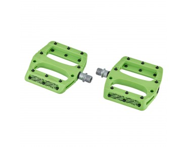 Sixpack Vegas pedals day-glo green