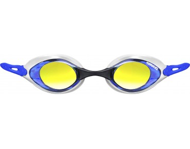 Arena Cobra Mirror swimming goggles white-blue/mirrored lenses