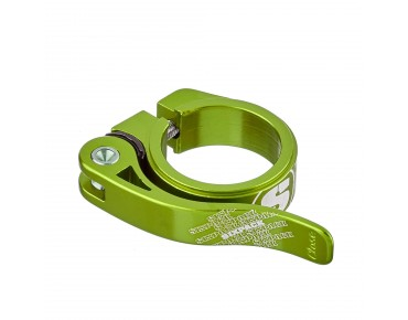 Sixpack Menace seat post clamp electric green