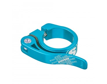 Sixpack Menace seat post clamp light blue