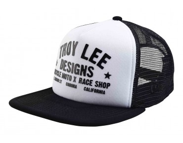 Troy Lee Designs CLASSIC RACESHOP Kappe white/black