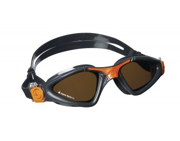 Aqua Sphere Kayenne goggles charcoal-orange/polarized lens