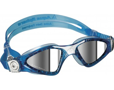 Aqua Sphere Kayenne small swimming goggles aqua-white/mirrored lens