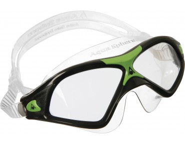 Aqua Sphere Seal XP2 swimming goggles black-green/clear lens