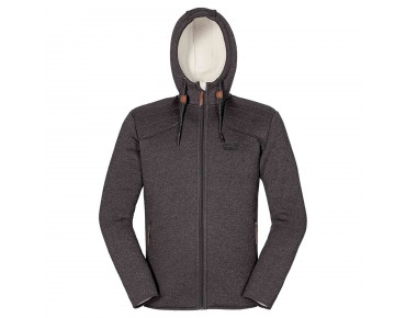 Jack Wolfskin TERRA NOVA HOODED fleece jacket dark steel