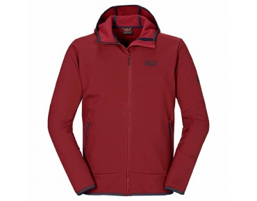 Jack Wolfskin GLACIER VALLEY II soft shell jacket dried  tomato