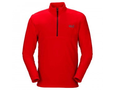 Jack Wolfskin GECKO fleece shirt red fire