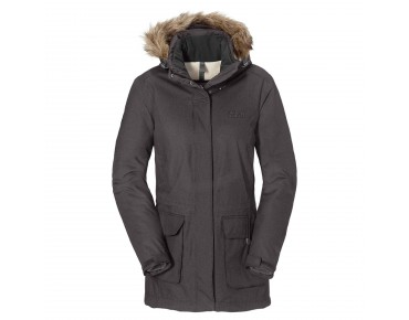 Jack Wolfskin LODGE BAY TEXAPORE women's parka dark steel