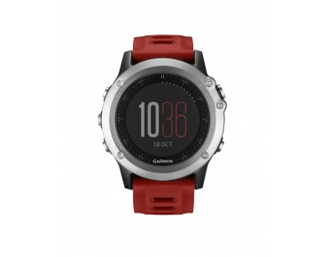 Garmin fenix 3 GPS multisport watch silver/red