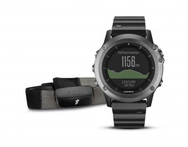 Garmin fenix® 3 GPS-Multisport-Uhr Performer Bundle mit Herzfrequenz-Brustgurt saphir