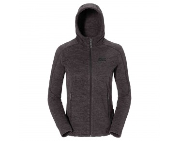 Jack Wolfskin CARSON II fleece hoodie jacket for women dark steel