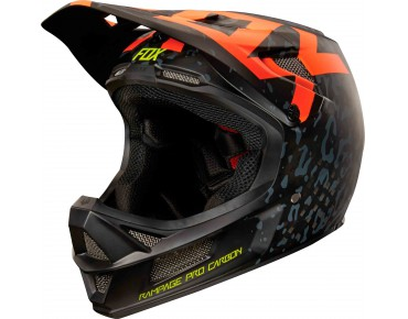 FOX RAMPAGE PRO CARBON MIPS - casco integrale cauz orange
