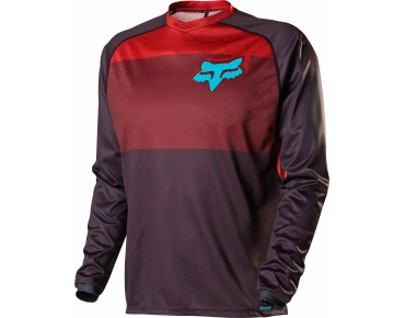 FOX INDICATOR LS JERSEY long-sleeved cycling shirt red