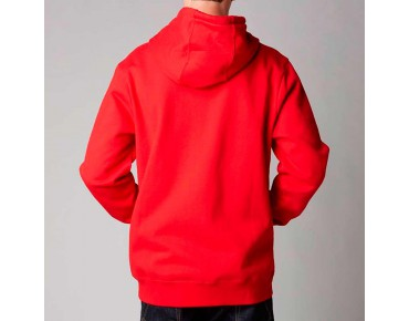 FOX TRACKER zip hoody red
