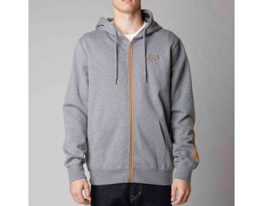 FOX TRACKER Zip Hoodie heather graphite