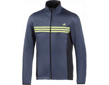 adidas response warmtefront softshell jacket midnight grey/black/frozen yellow