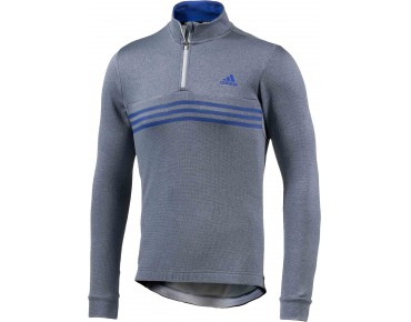 adidas response warmtefront - maglia maniche lunghe midnight grey/bold blue/frozen yellow