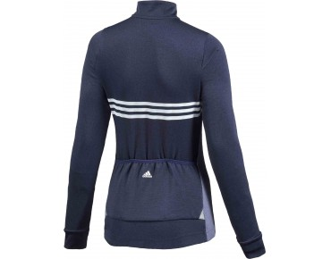 adidas response warmtefront women's long-sleeved jersey midnight indigo/clear onix