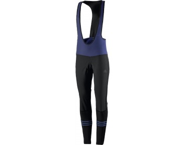 adidas response warmtefront women's windbreaker bib tights black/midnight indigo