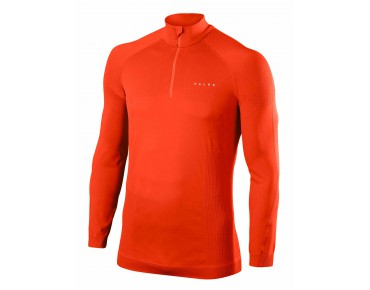FALKE RUNNER zip shirt samba orange