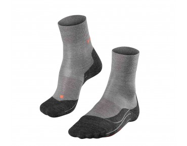 FALKE RU4 WOOL Socke grey