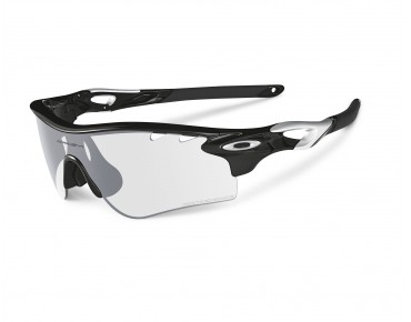 OAKLEY RADARLOCK PATH PHOTOCHROMIC REFRESH Sportbrille polished black/silver w/clear black iridium photocromic Vdt