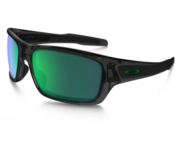 OAKLEY TURBINE sports glasses grey smoke w/ jade iridium polarized