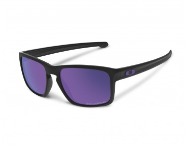 OAKLEY SLIVER sunglasses matte black w/violet iridium polarized