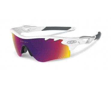 OAKLEY RADARLOCK PATH Sportbrille polished white w/PRIZM ROAD&persimmon Vdt