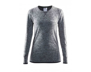 CRAFT ACTIVE COMFORT women's long-sleeved base layer black melange