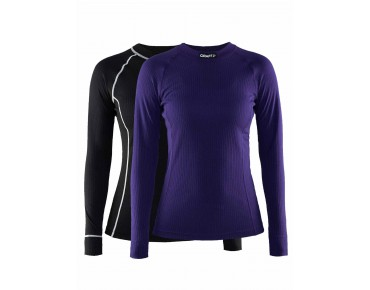 CRAFT ACTIVE MULTI 2-PACK long-sleeved base layer for women dynasty & black
