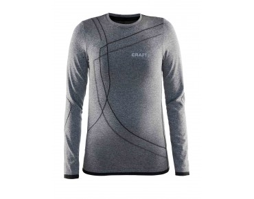 CRAFT ACTIVE COMFORT long-sleeved base layer for kids black melange