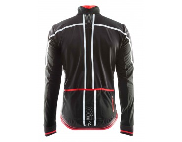 CRAFT GLOW thermal windbreaker black/bright red