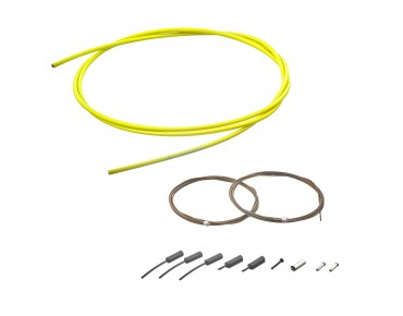 SHIMANO polymer-coated shift cable set yellow