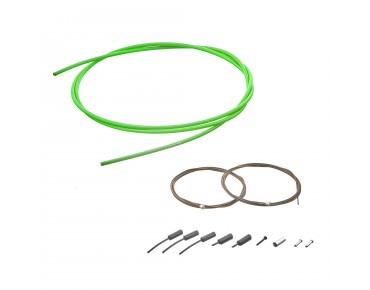 SHIMANO polymer-coated shift cable set green