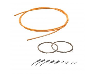 SHIMANO polymer-coated shift cable set orange