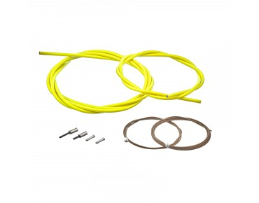 SHIMANO BC-R680 road bike brake cable set, polymer-coated yellow