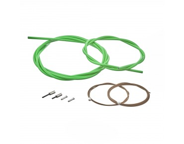 SHIMANO BC-R680 road bike brake cable set, polymer-coated green