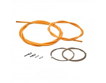 SHIMANO BC-R680 road bike brake cable set, polymer-coated orange
