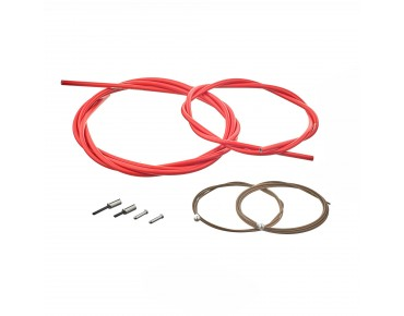 SHIMANO BC-R680 road bike brake cable set, polymer-coated red
