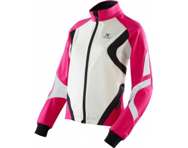 X BIONIC WINTER SPHEREWIND LIGHT women's soft shell jacket pink/white/black