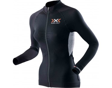 X BIONIC THE TRICK women's long-sleeved jersey black-white
