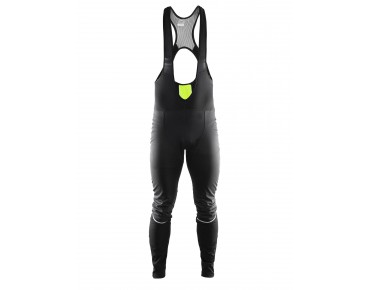 CRAFT STORM thermal windbreaker bib tights, long black/flumino