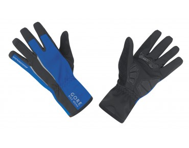 GORE BIKE WEAR POWER WINDSTOPPER SOFT SHELL gloves black/blue