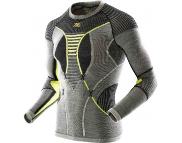 MERINO long-sleeved undershirt black/grey/yellow