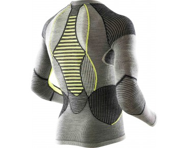 X BIONIC MERINO long-sleeved undershirt black/grey/yellow